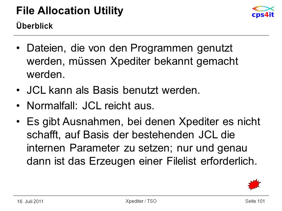 File Allocation Utility