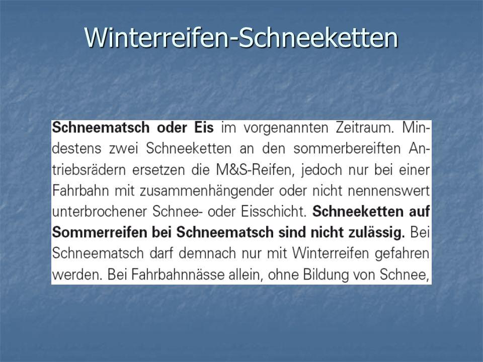 Winterreifen-Schneeketten
