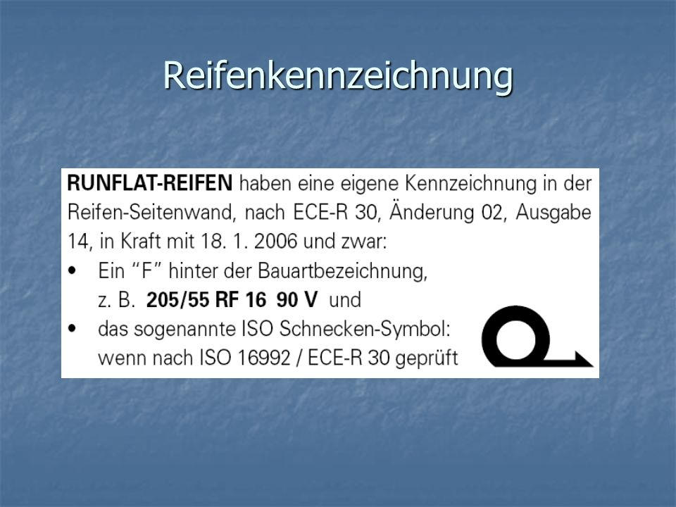 Reifenkennzeichnung
