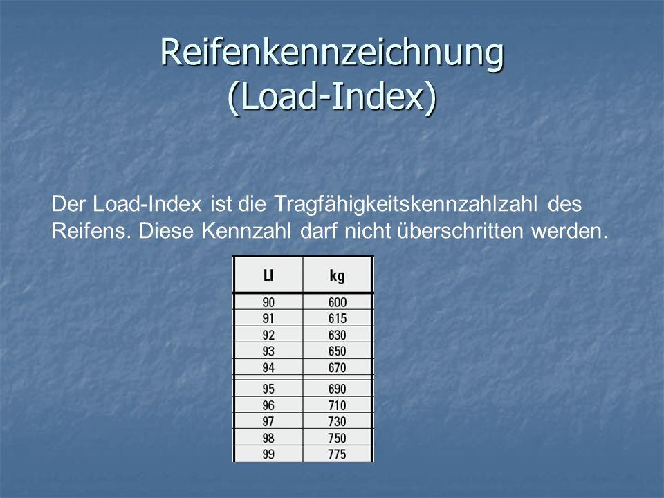 Reifenkennzeichnung (Load-Index)