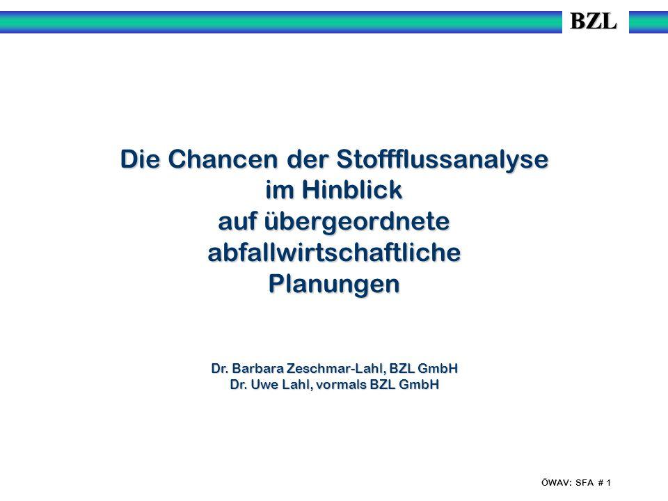 Dr. Barbara Zeschmar-Lahl, BZL GmbH Dr. Uwe Lahl, vormals BZL GmbH