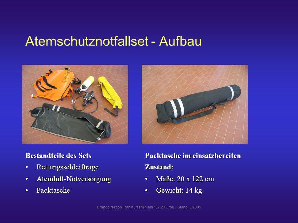Atemschutznotfallset - Aufbau
