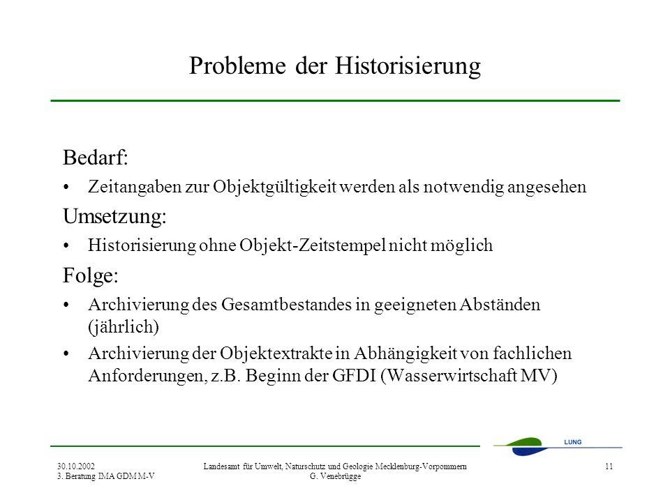 Probleme der Historisierung
