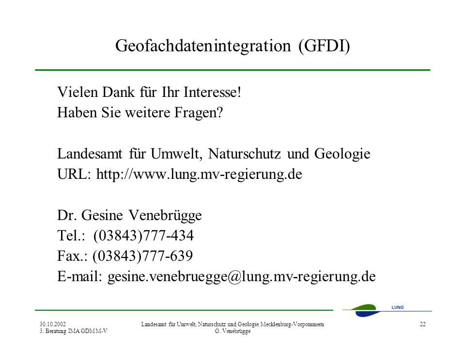 Geofachdatenintegration (GFDI)