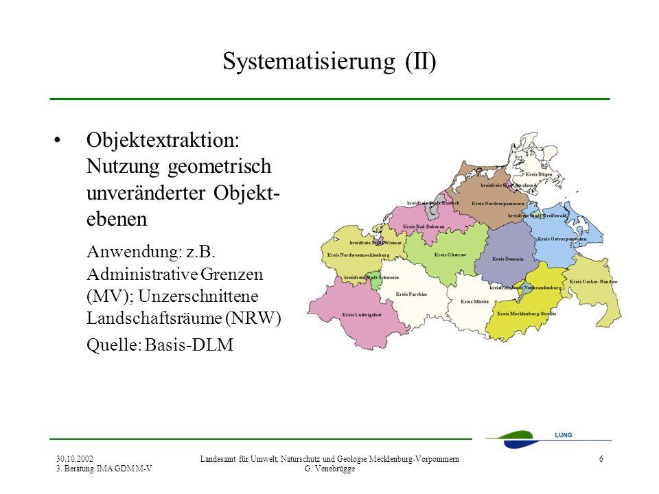 Systematisierung (II)