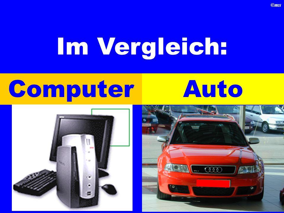 Im Vergleich: Computer Auto