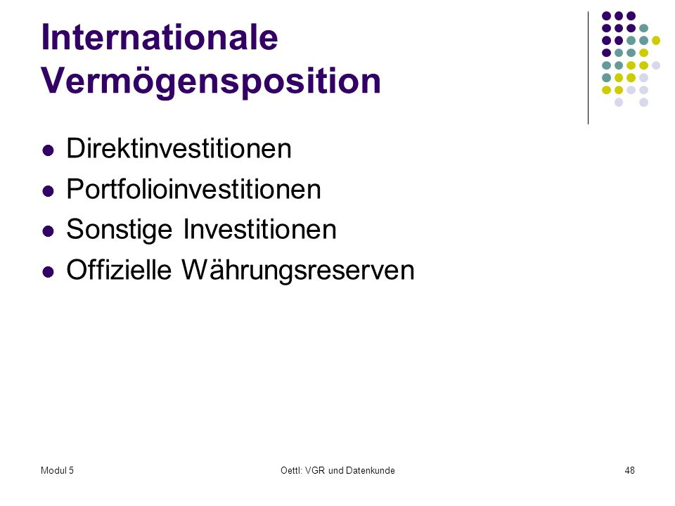 Internationale Vermögensposition