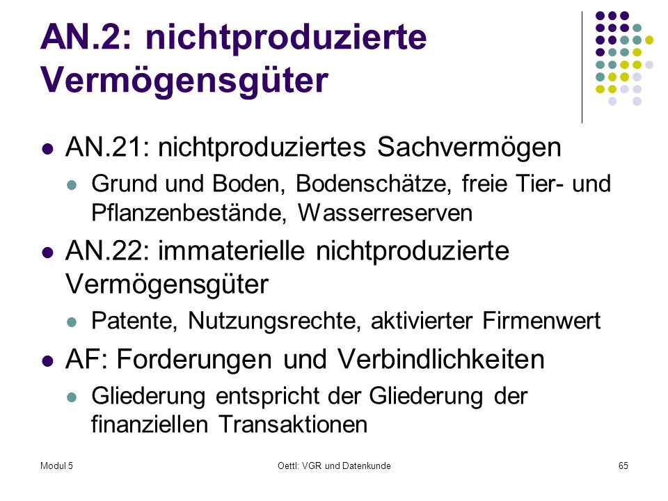 AN.2: nichtproduzierte Vermögensgüter