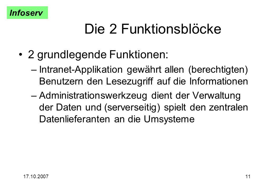 Die 2 Funktionsblöcke 2 grundlegende Funktionen: