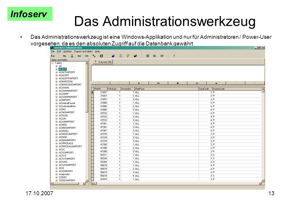Das Administrationswerkzeug