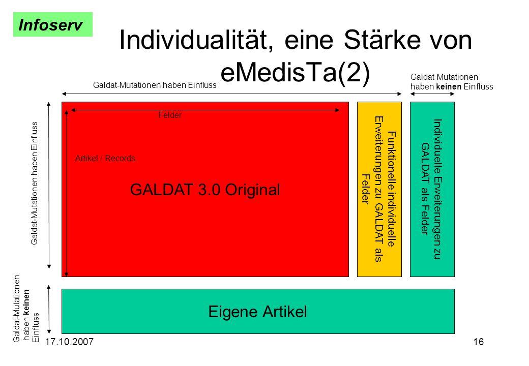 Individualität, eine Stärke von eMedisTa(2)
