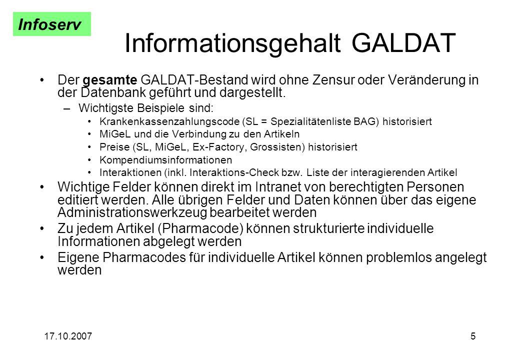 Informationsgehalt GALDAT