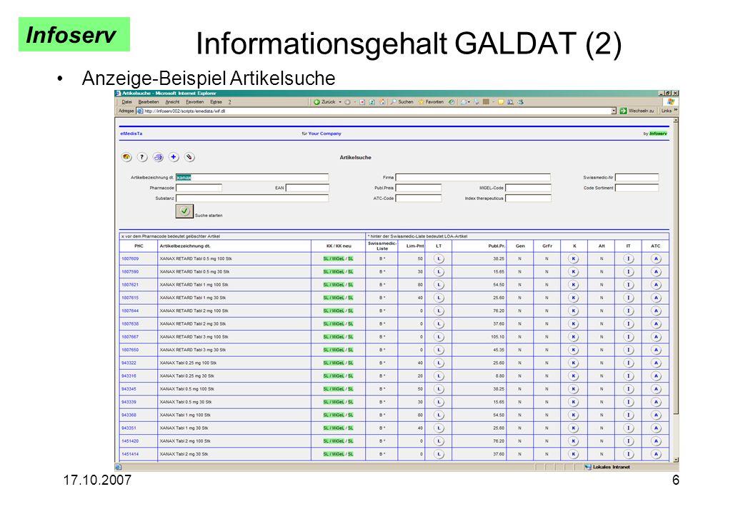 Informationsgehalt GALDAT (2)