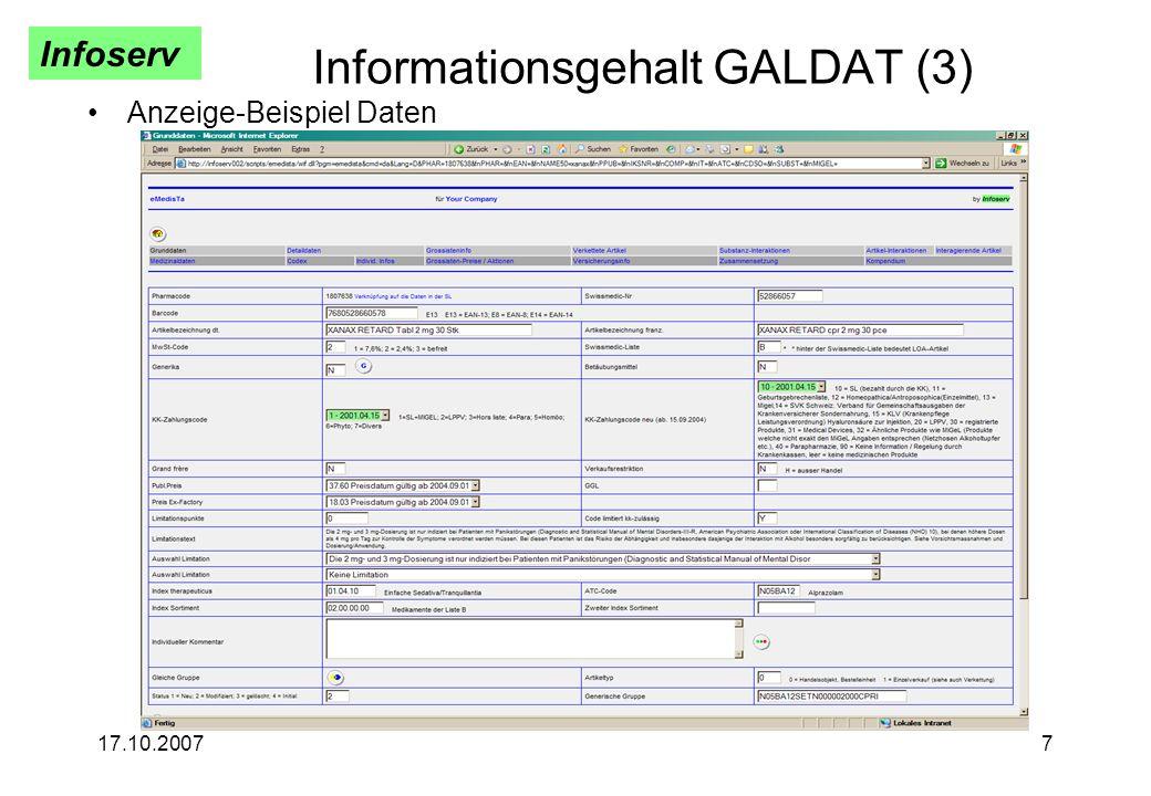 Informationsgehalt GALDAT (3)