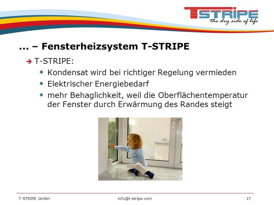 ... – Fensterheizsystem T-STRIPE