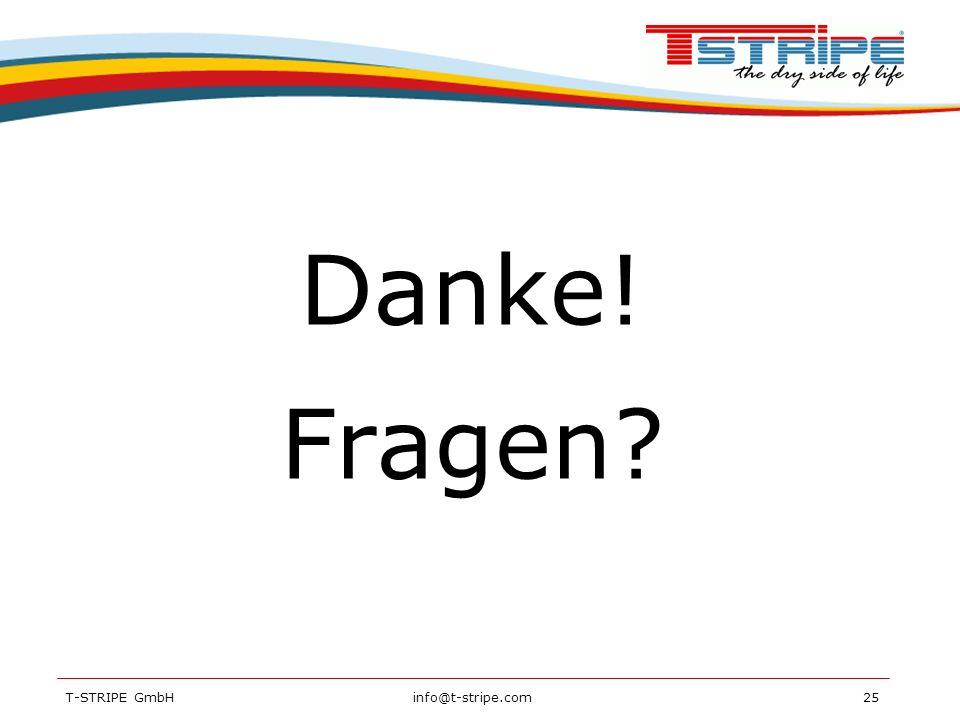 Danke! Fragen T-STRIPE GmbH info@t-stripe.com