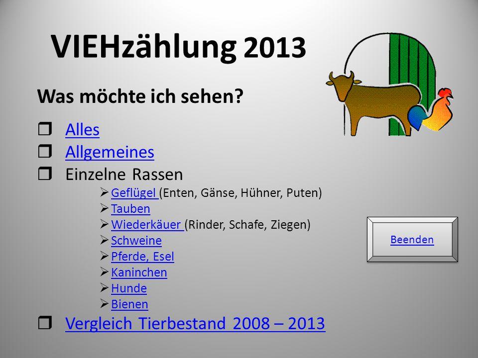 VIEHzählung 2013 Was möchte ich sehen Alles Allgemeines