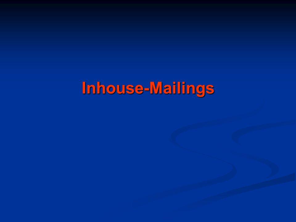 Inhouse-Mailings