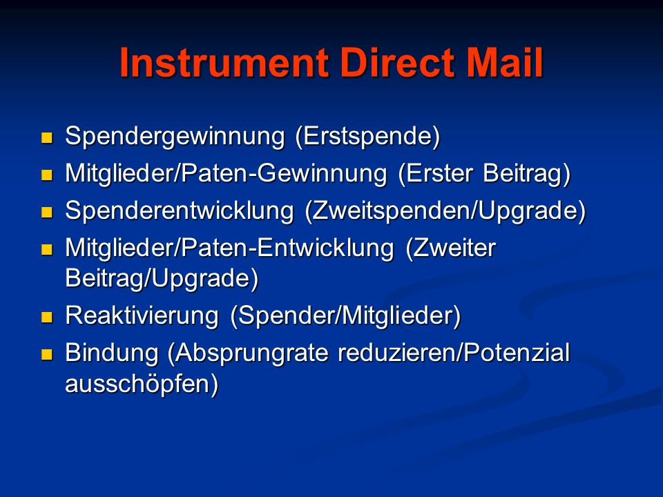 Instrument Direct Mail