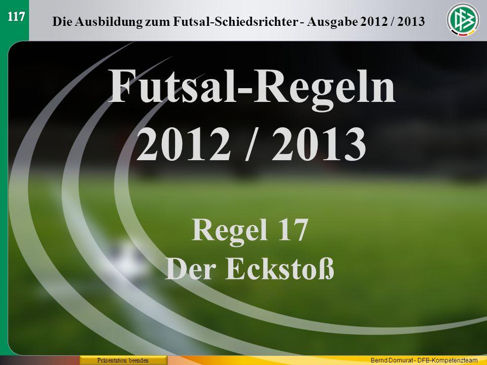 Die Ausbildung zum Futsal-Schiedsrichter - Ausgabe 2012 / 2013