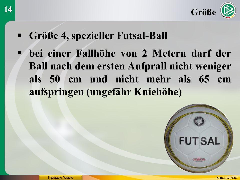 Größe 4, spezieller Futsal-Ball