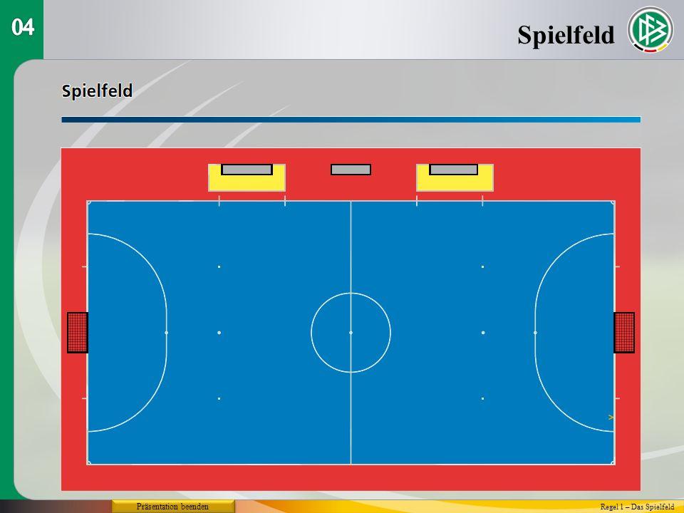 04 Spielfeld Präsentation beenden Regel 1 – Das Spielfeld