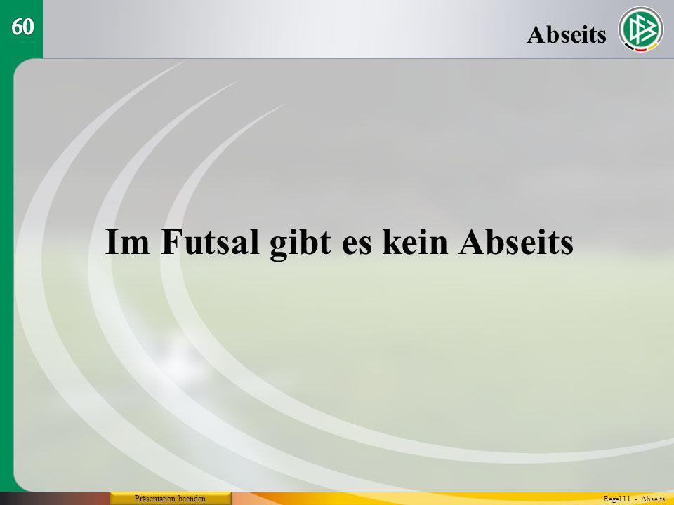 Im Futsal gibt es kein Abseits