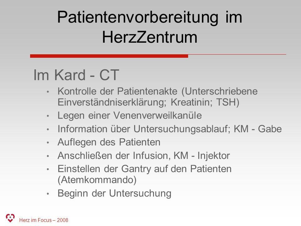 Patientenvorbereitung im HerzZentrum