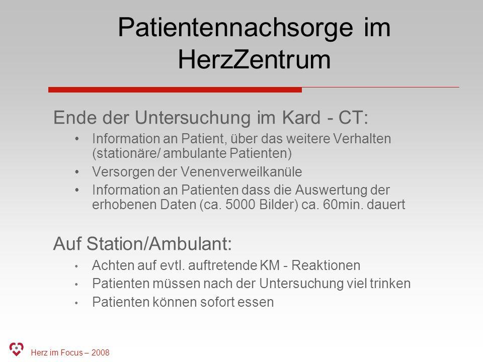 Patientennachsorge im HerzZentrum