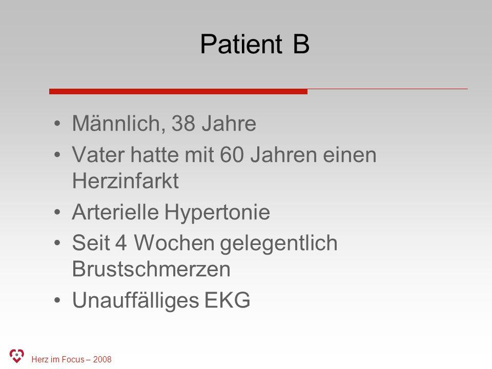 Patient B Männlich, 38 Jahre