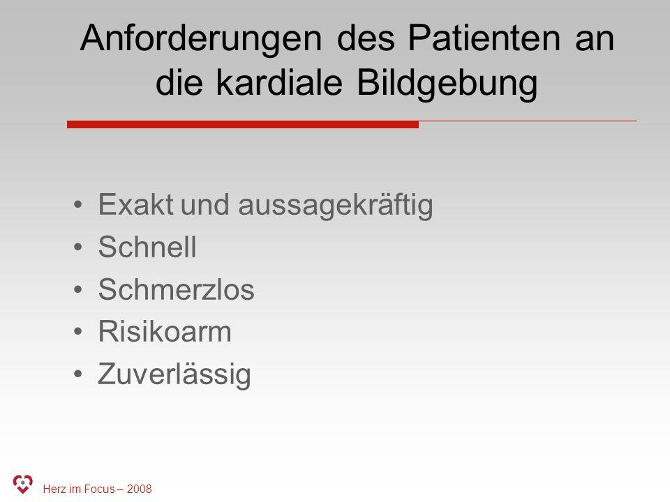 Anforderungen des Patienten an die kardiale Bildgebung