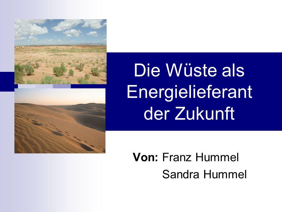 Die Wüste als Energielieferant der Zukunft