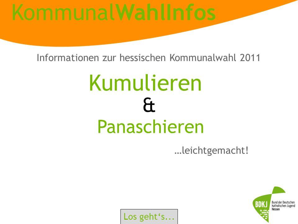 Informationen zur hessischen Kommunalwahl 2011