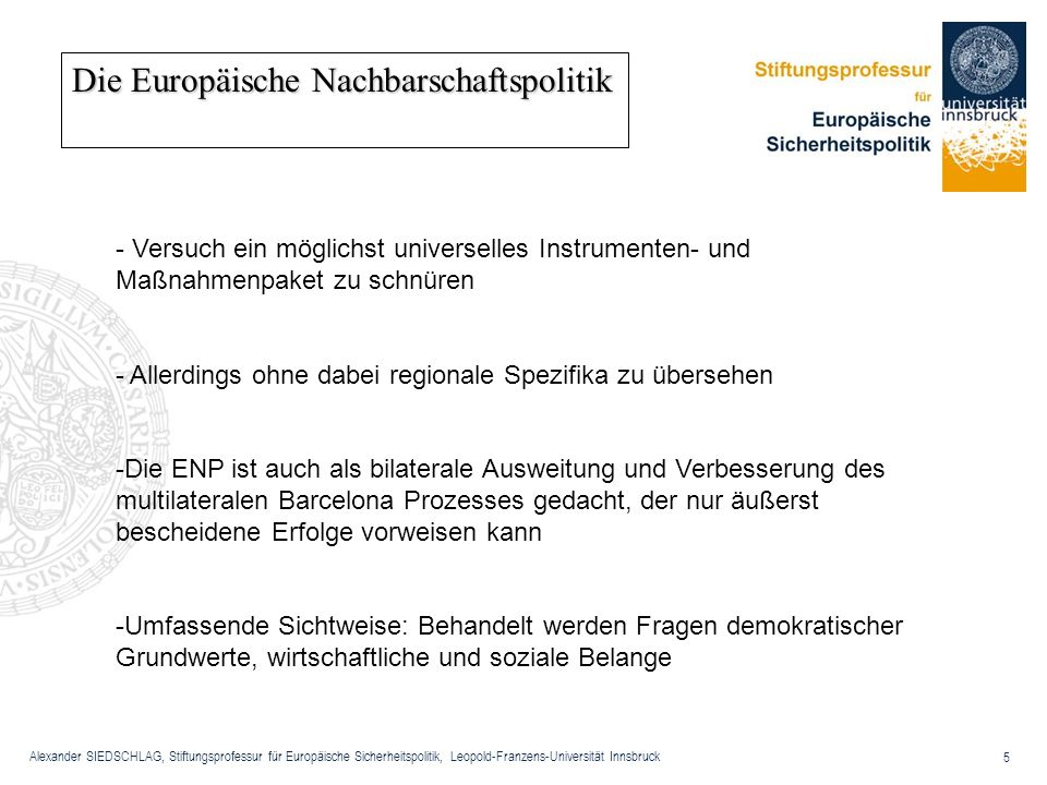 Die Europäische Nachbarschaftspolitik