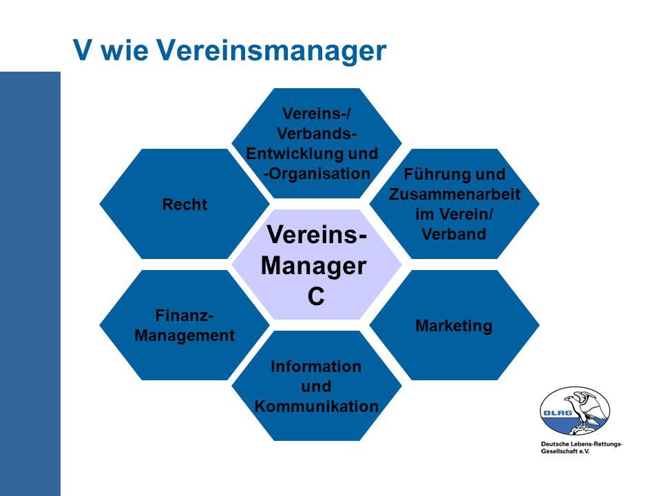 V wie Vereinsmanager Vereins- Manager C Vereins-/ Verbands-
