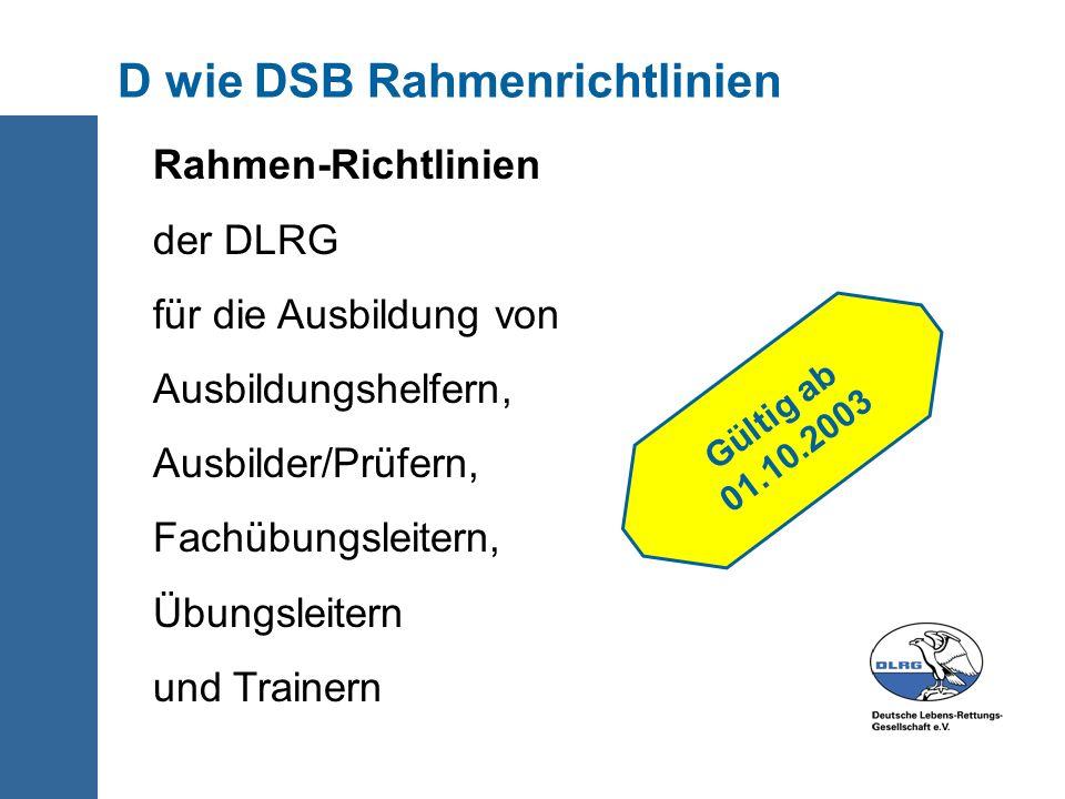 D wie DSB Rahmenrichtlinien