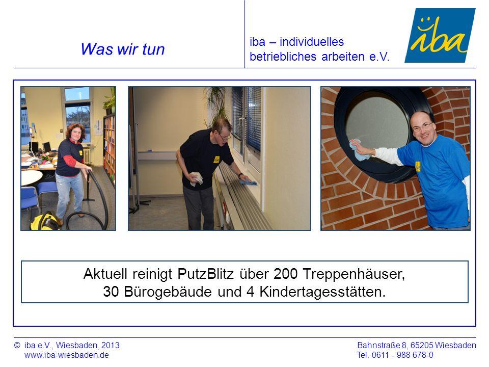 Was wir tun Aktuell reinigt PutzBlitz über 200 Treppenhäuser,