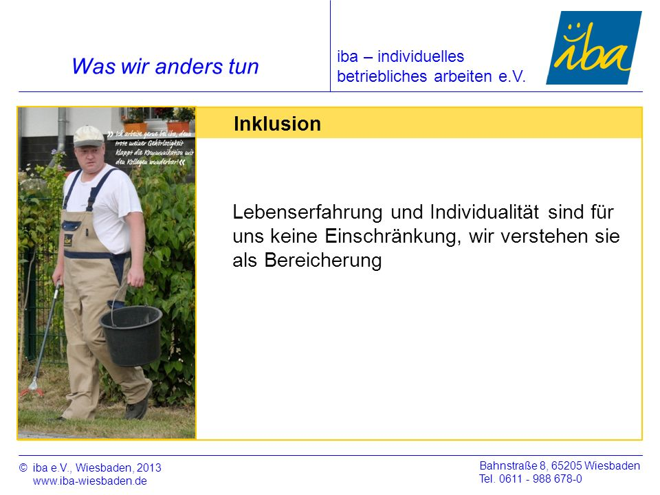 Was wir anders tun Inklusion