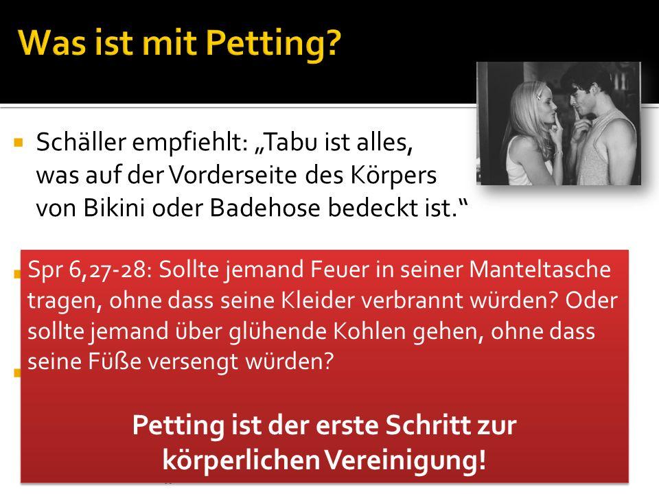 Petting ist der erste Schritt zur körperlichen Vereinigung!