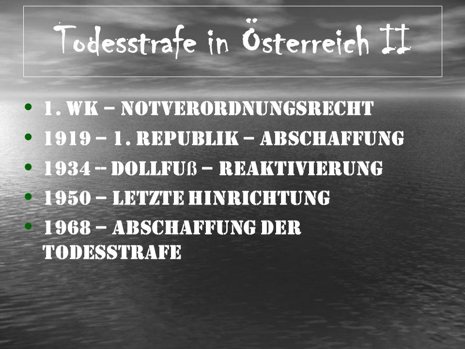Todesstrafe in Österreich II