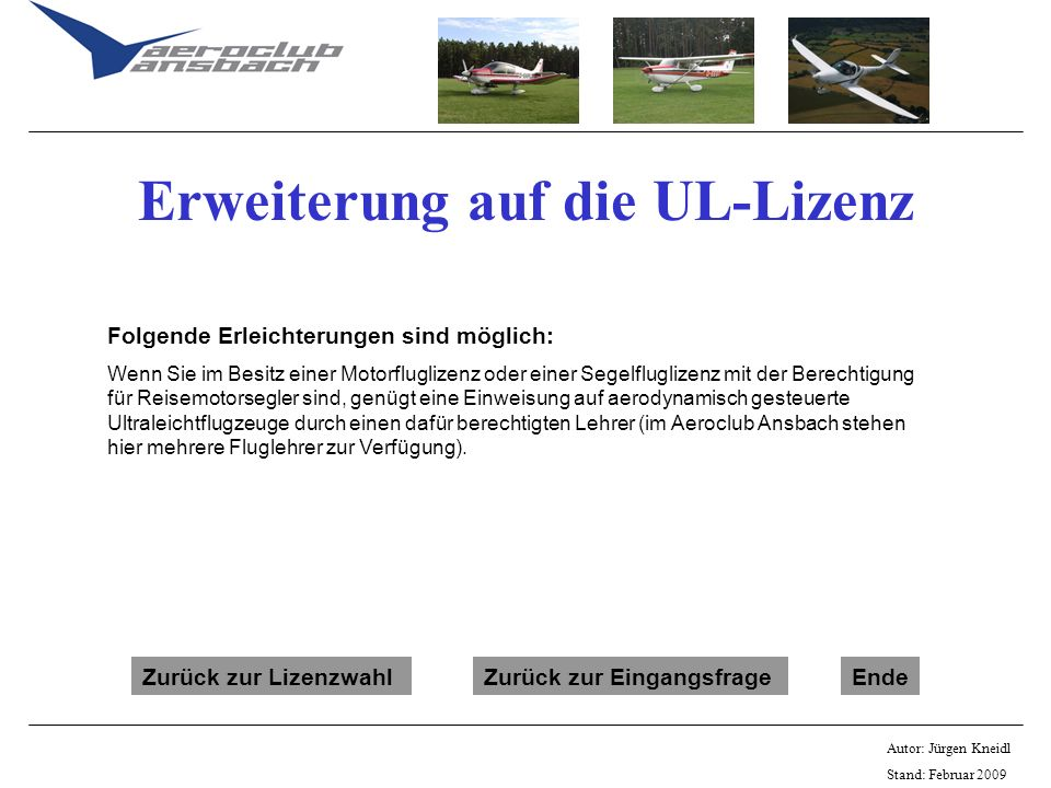 Erweiterung auf die UL-Lizenz