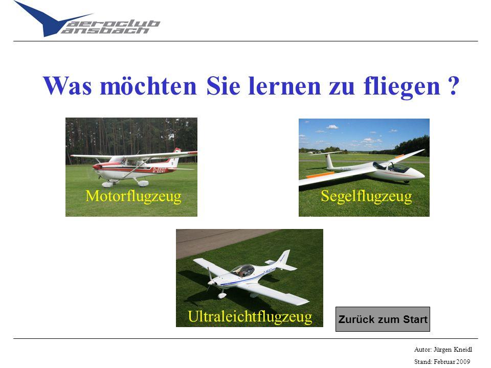 Was möchten Sie lernen zu fliegen