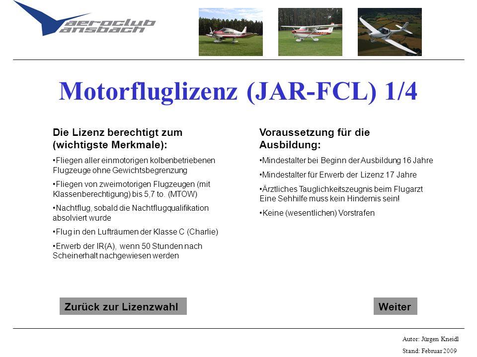 Motorfluglizenz (JAR-FCL) 1/4