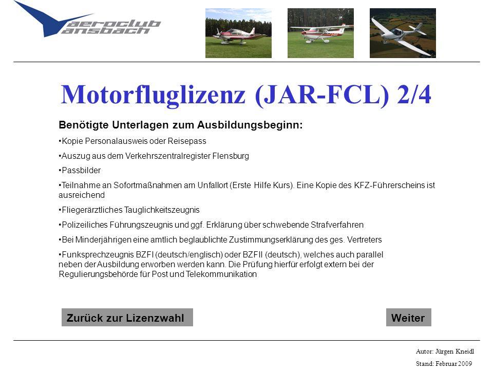 Motorfluglizenz (JAR-FCL) 2/4