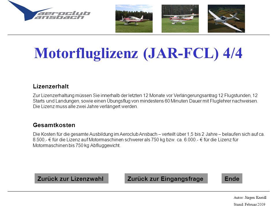 Motorfluglizenz (JAR-FCL) 4/4