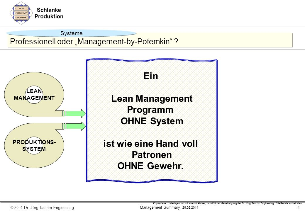 "Professionell oder ""Management-by-Potemkin"