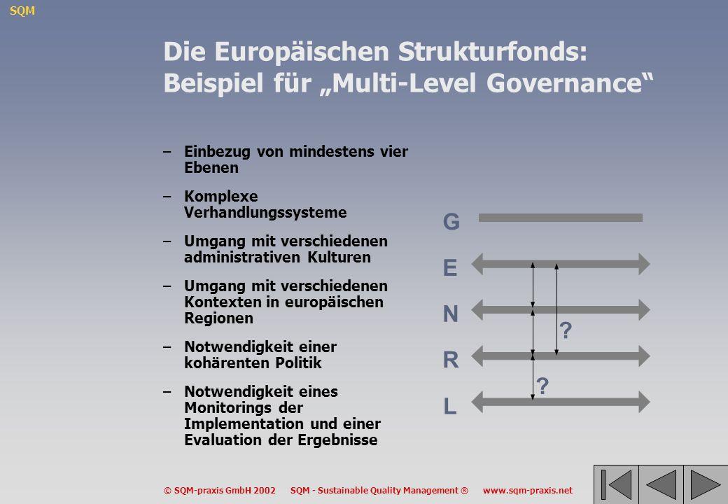 """Die Europäischen Strukturfonds: Beispiel für """"Multi-Level Governance"""