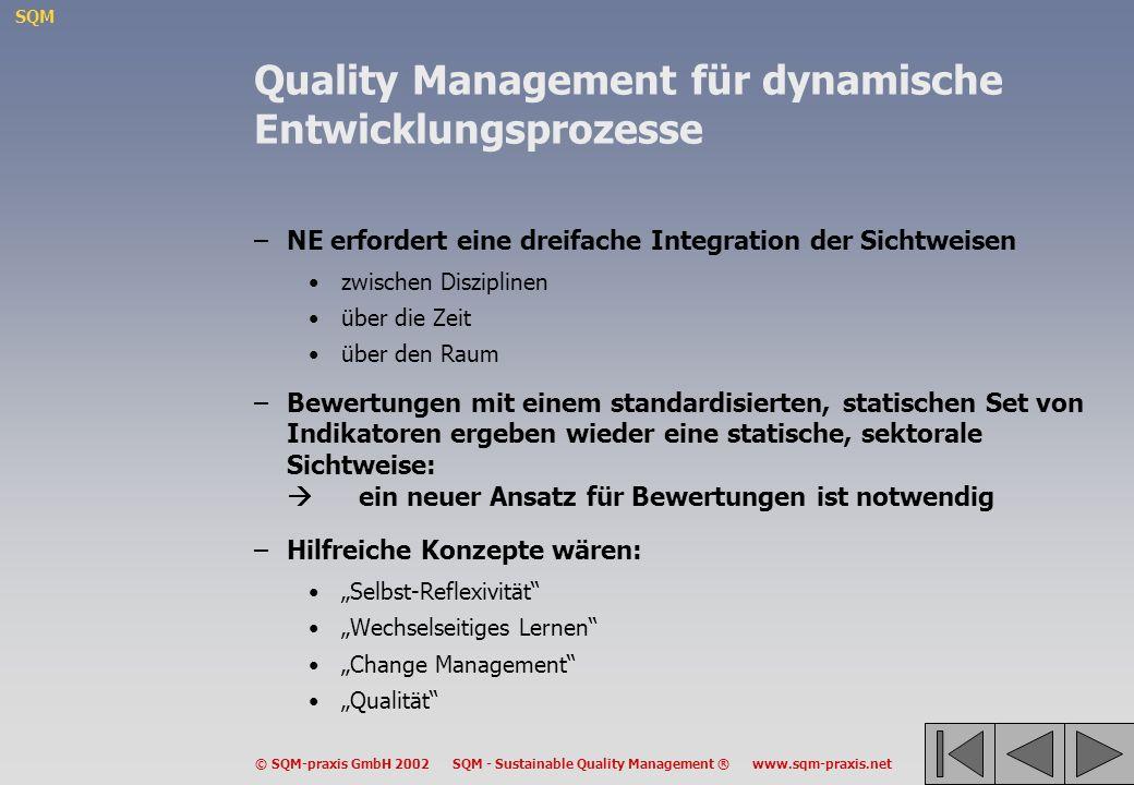 Quality Management für dynamische Entwicklungsprozesse