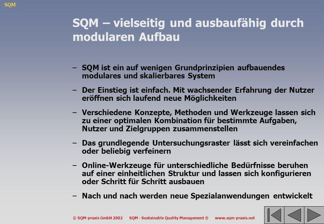 SQM – vielseitig und ausbaufähig durch modularen Aufbau