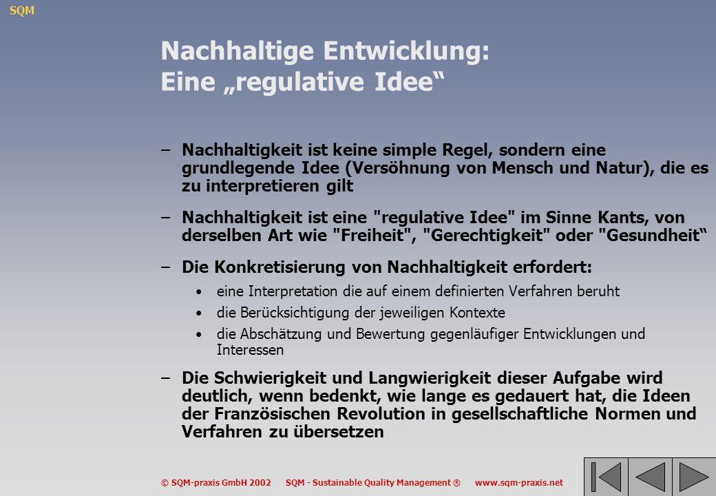 """Nachhaltige Entwicklung: Eine """"regulative Idee"""
